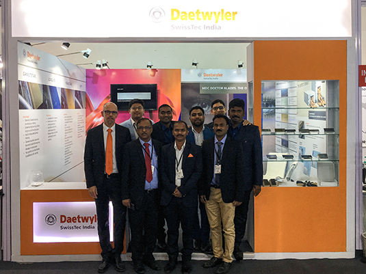 Daetwyler SwissTec labelexpo Stand personnel