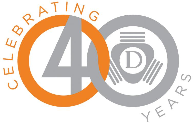 Daetwyler USA 40 Jahre Feier Logo