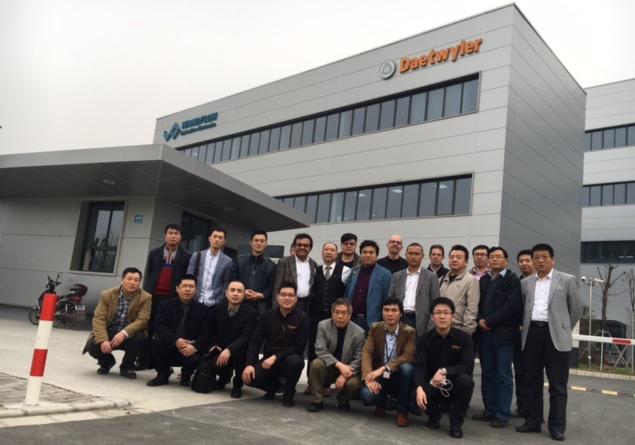 Daetwyler SwissTec China Teambild am Eröffnungstag