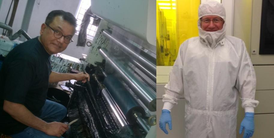 Daetwyler SwissTec Druckspezialisten bei der Arbeit