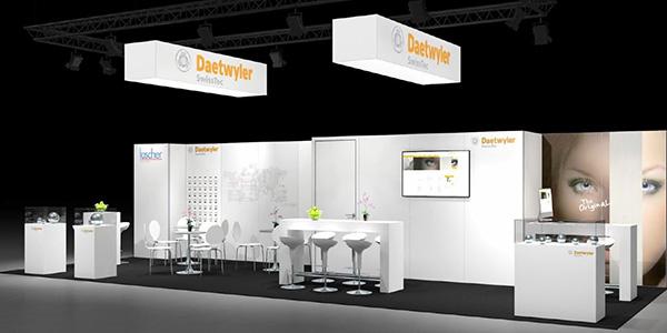 Daetwyler SwissTec Standdesign an Fachmesse