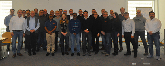 Daetwyler SwissTec Salesmeeting Davos 2019 Group picture